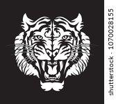roaring tiger's head logo... | Shutterstock .eps vector #1070028155