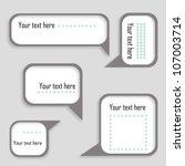 speech bubbles set. eps10 | Shutterstock .eps vector #107003714