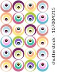 modern pattern with circles | Shutterstock .eps vector #107004215