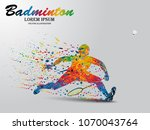 visual drawing badminton sport... | Shutterstock .eps vector #1070043764