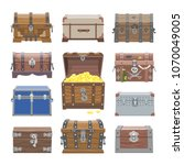 chest vector treasure box with...   Shutterstock .eps vector #1070049005