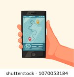 fast and free delivery. vector... | Shutterstock .eps vector #1070053184