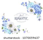 vector botanical banner with... | Shutterstock .eps vector #1070059637
