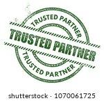 trusted partner stamp | Shutterstock .eps vector #1070061725