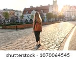woman in a grey dress and... | Shutterstock . vector #1070064545