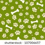 background animal footprints... | Shutterstock .eps vector #107006657