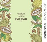 background with baobab  baobab... | Shutterstock .eps vector #1070071319