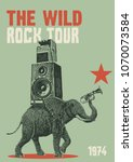 rock tour flyer poster template | Shutterstock .eps vector #1070073584