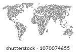 global world concept map... | Shutterstock .eps vector #1070074655