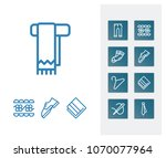 cloth icon set and towel with...