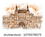 old vintage building in russian ... | Shutterstock . vector #1070078075