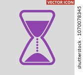 hourglass icon on grey... | Shutterstock .eps vector #1070078345