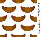 croissant seamless pattern on...   Shutterstock . vector #1070081099
