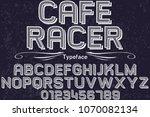vintage font handcrafted vector ... | Shutterstock .eps vector #1070082134