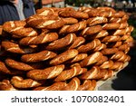 turkish bagel simit with sesame ... | Shutterstock . vector #1070082401