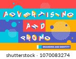 advertising and promo concept... | Shutterstock .eps vector #1070083274