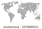 world pattern map organized of...   Shutterstock .eps vector #1070085011