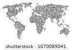 global mosaic map designed of...   Shutterstock .eps vector #1070085041