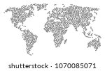global geography pattern map... | Shutterstock .eps vector #1070085071