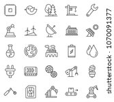 thin line icon set   factory... | Shutterstock .eps vector #1070091377