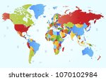color world map vector | Shutterstock .eps vector #1070102984