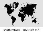 world map vector | Shutterstock .eps vector #1070105414