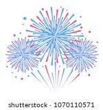 vector holiday firework.... | Shutterstock .eps vector #1070110571