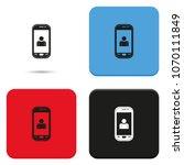 customer service flat vector... | Shutterstock .eps vector #1070111849