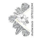 background with ink hand drawn... | Shutterstock .eps vector #1070113244
