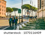 rome  italy  january   2018  ... | Shutterstock . vector #1070116409