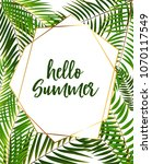hello summer background. vector ... | Shutterstock .eps vector #1070117549