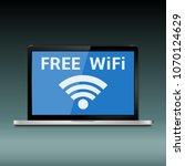 wireless technology  wifi... | Shutterstock . vector #1070124629