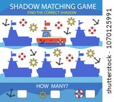 children game shadow matching.... | Shutterstock .eps vector #1070125991