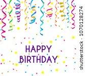 happy birthday paper sign over...   Shutterstock .eps vector #1070128274