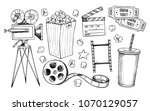 hand drawn vector illustrations ... | Shutterstock .eps vector #1070129057