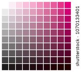 cmyk color chart to use in... | Shutterstock .eps vector #1070133401