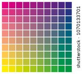 cmyk color chart to use in... | Shutterstock .eps vector #1070133701