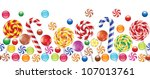colorful candies  fruit bonbon  ... | Shutterstock .eps vector #107013761