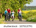 family with three girls having...   Shutterstock . vector #107013791