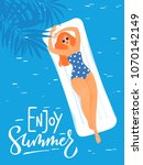 vector summer poster with young ...   Shutterstock .eps vector #1070142149