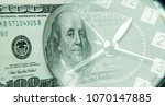 clock and american banknote....
