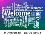 welcome word cloud in different ...   Shutterstock .eps vector #1070148485