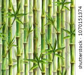Green Bamboo Forest Seamless...