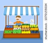 healthy market. vector | Shutterstock .eps vector #1070155034