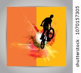 silhouette of bicycle jumper | Shutterstock .eps vector #1070157305