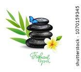 spa stones stack logo sign.... | Shutterstock .eps vector #1070159345