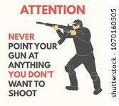 practical shooting safety rules.... | Shutterstock .eps vector #1070160305