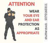 practical shooting safety rules.... | Shutterstock .eps vector #1070160311
