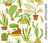 vector cacti seamless pattern....   Shutterstock .eps vector #1070162669
