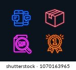 neon lights. set of smartphone... | Shutterstock .eps vector #1070163965